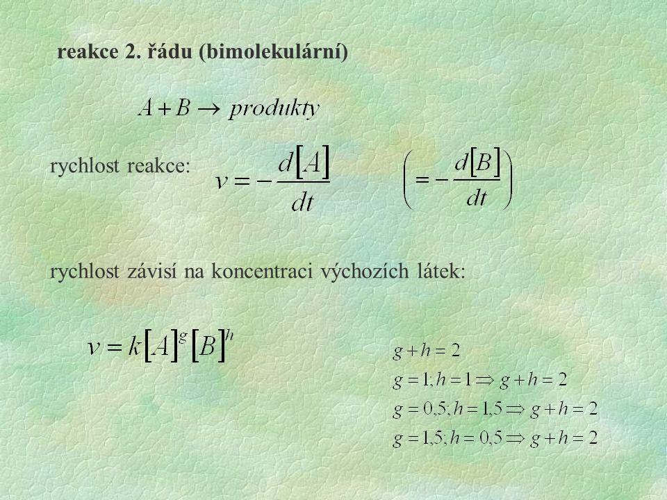 reakce 2. řádu (bimolekulární)