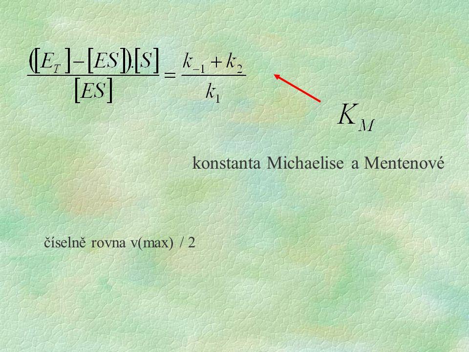 konstanta Michaelise a Mentenové