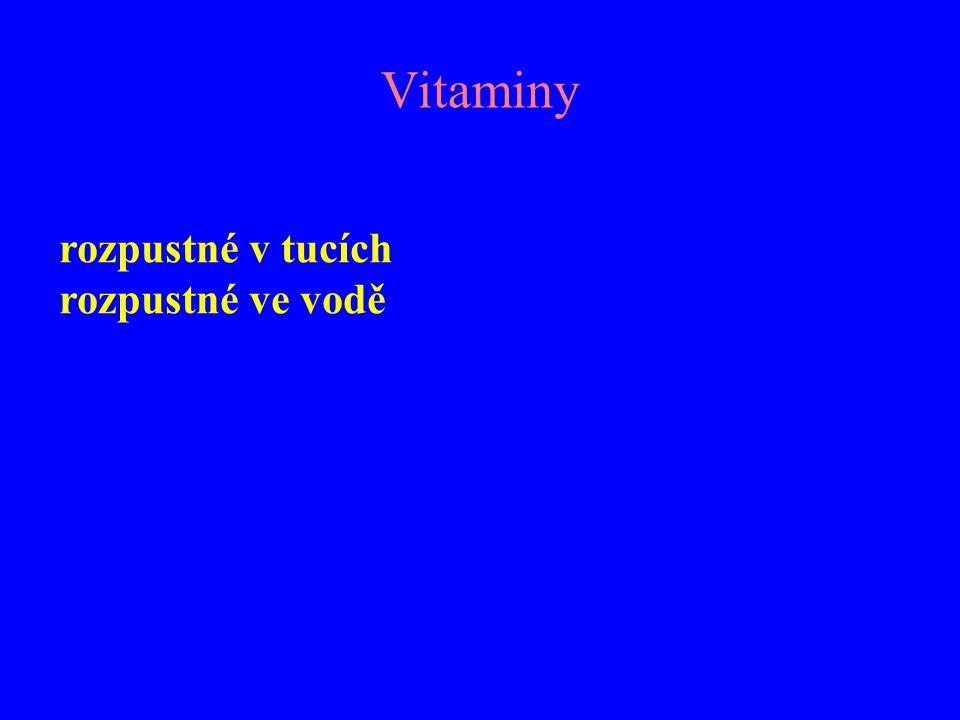 Vitaminy rozpustné v tucích rozpustné ve vodě
