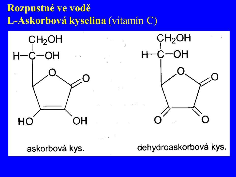 Rozpustné ve vodě L-Askorbová kyselina (vitamín C)