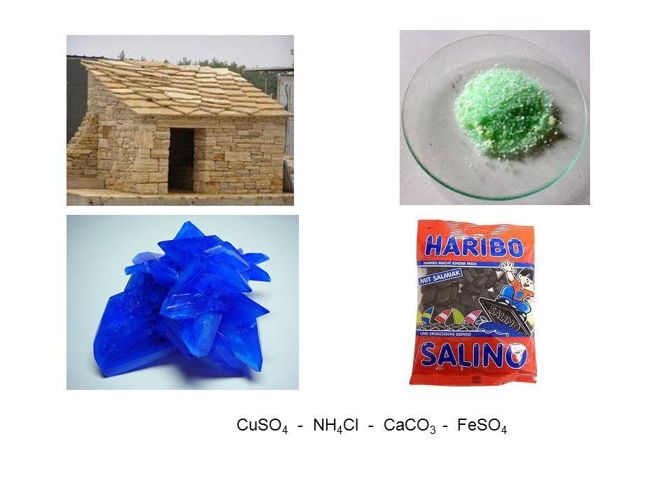 CuSO4 - NH4Cl - CaCO3 - FeSO4