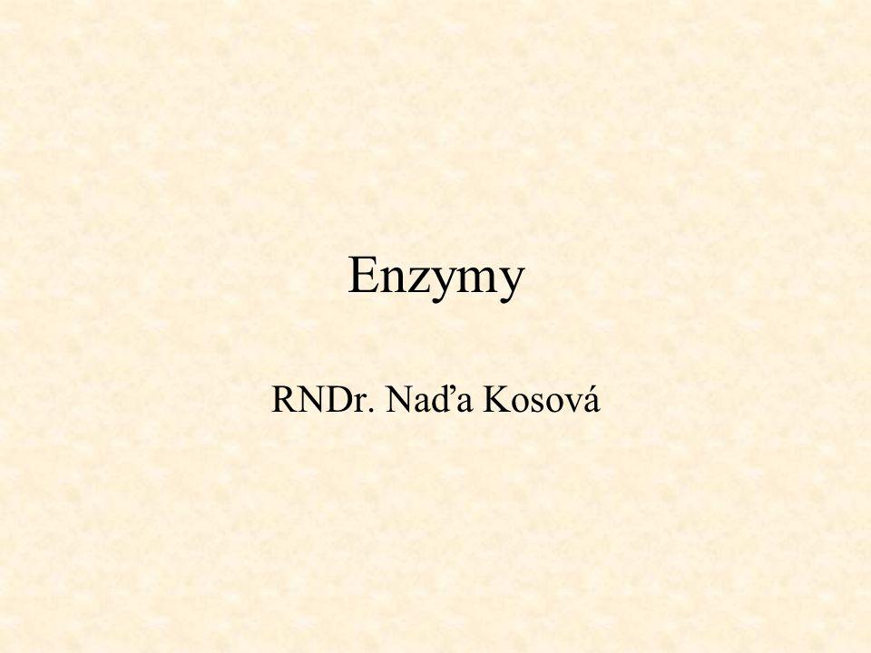 Enzymy RNDr. Naďa Kosová