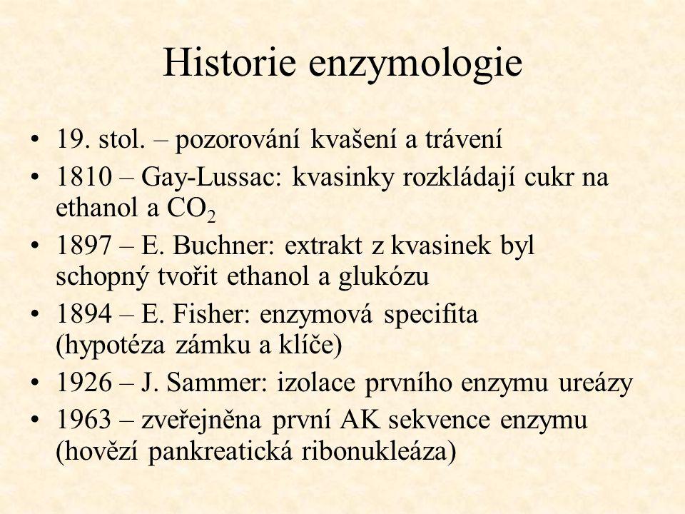 Historie enzymologie 19. stol. – pozorování kvašení a trávení