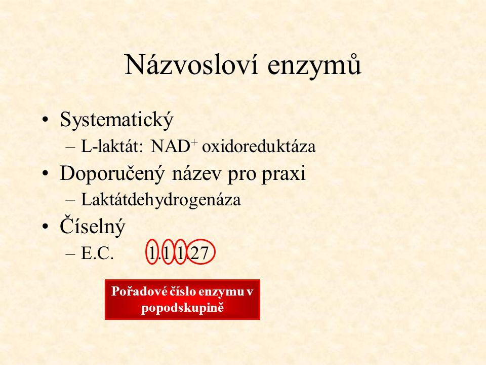 Pořadové číslo enzymu v popodskupině