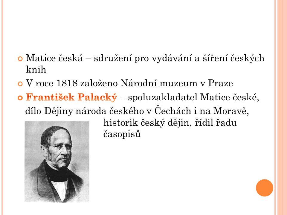 Matice česká – sdružení pro vydávání a šíření českých knih