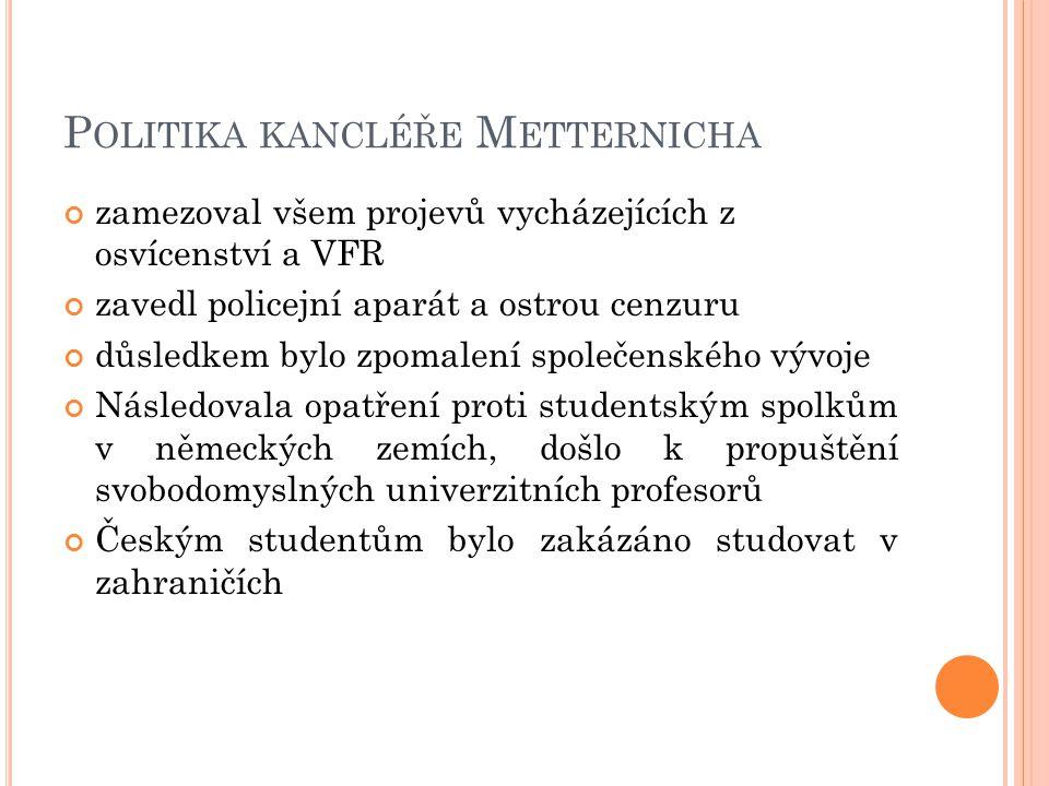 Politika kancléře Metternicha