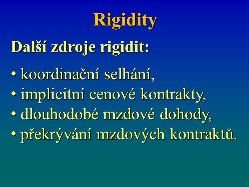 Rigidity Další zdroje rigidit: koordinační selhání,