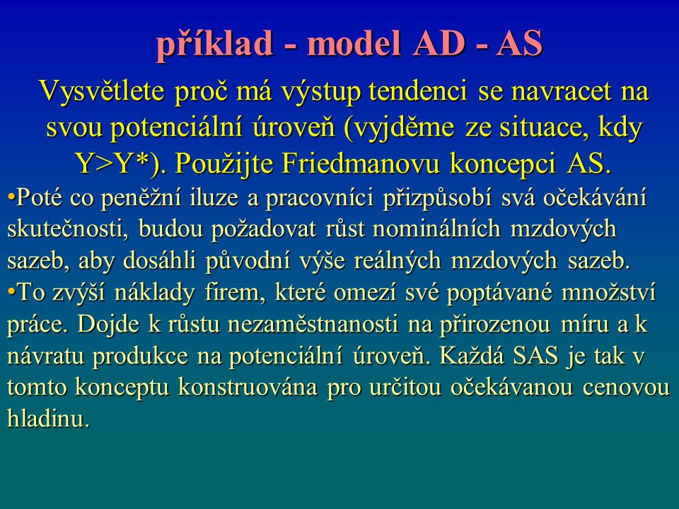 příklad - model AD - AS