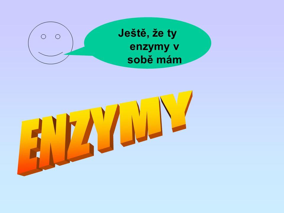 Ještě, že ty enzymy v sobě mám