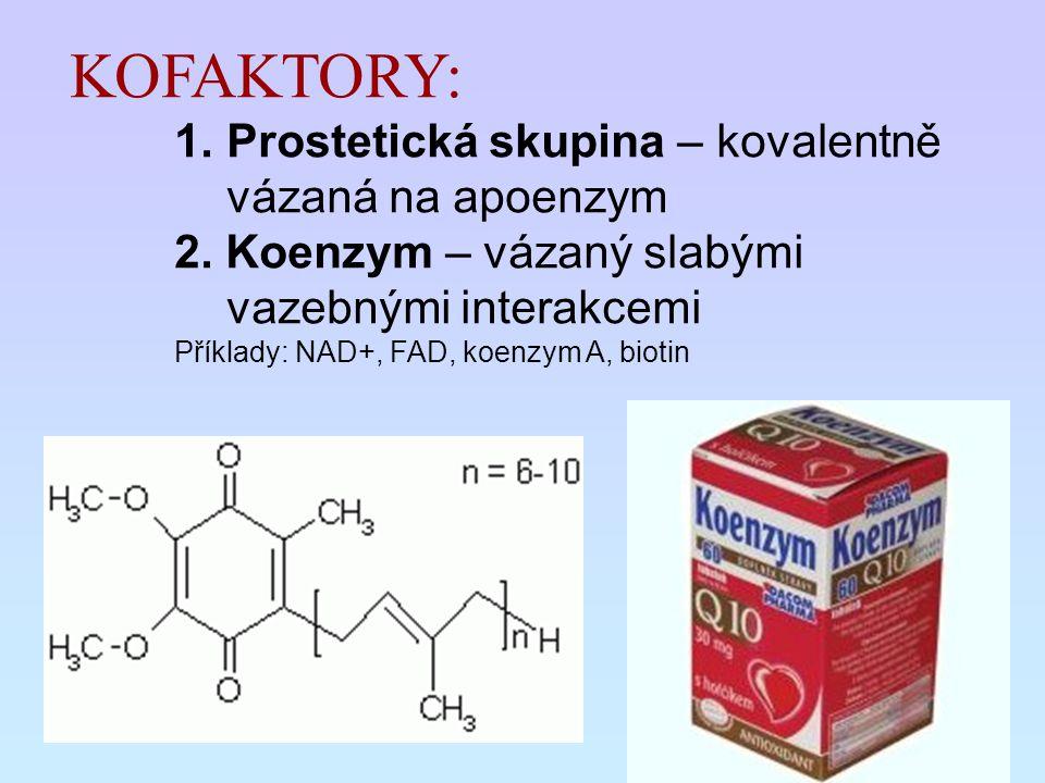 KOFAKTORY: Prostetická skupina – kovalentně vázaná na apoenzym