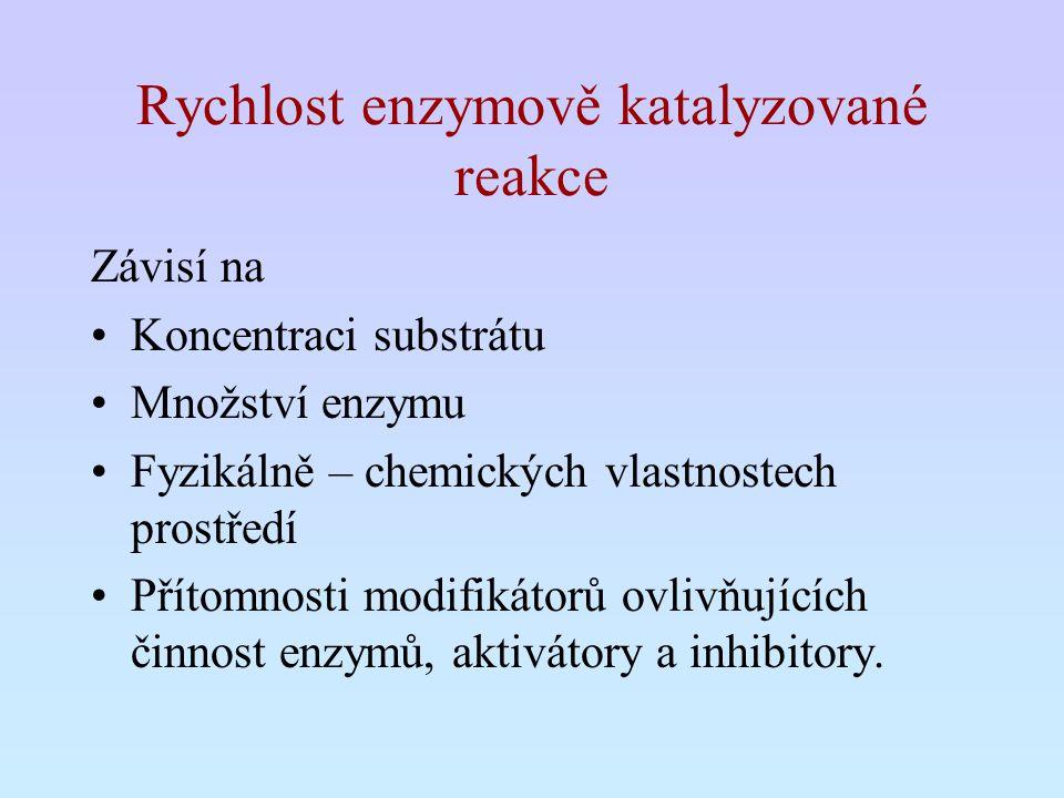Rychlost enzymově katalyzované reakce