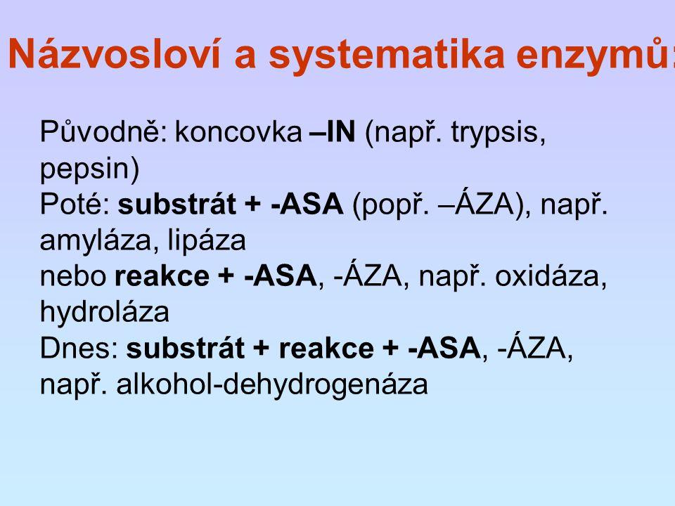 Názvosloví a systematika enzymů: