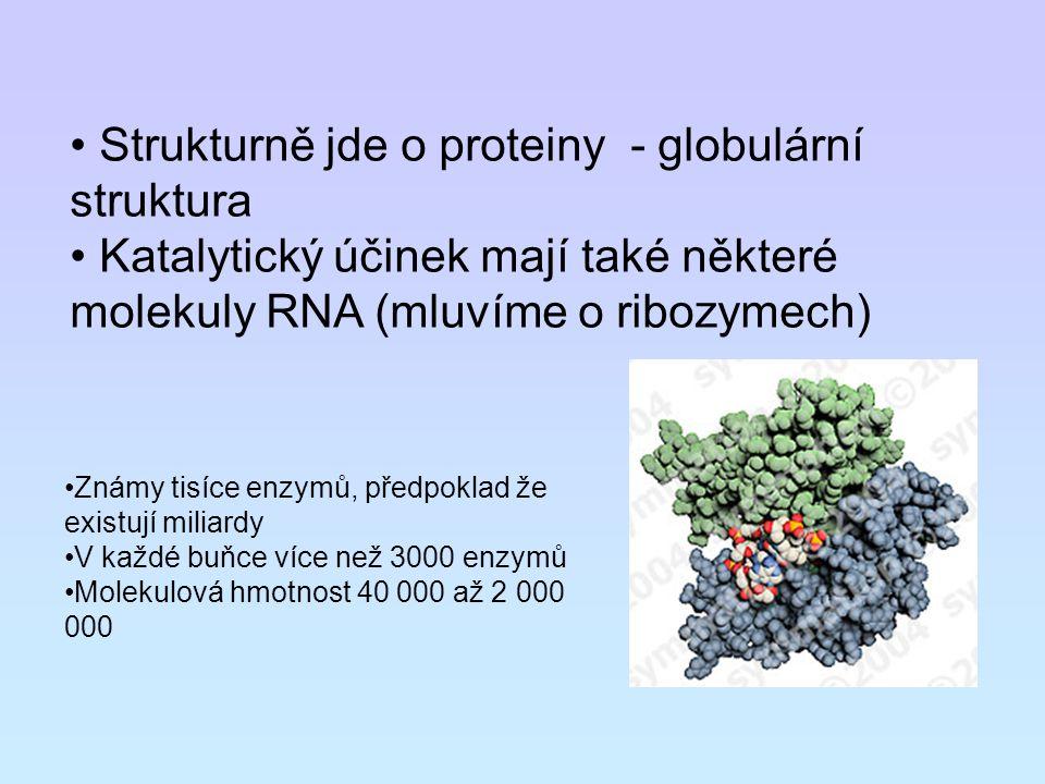 Strukturně jde o proteiny - globulární struktura