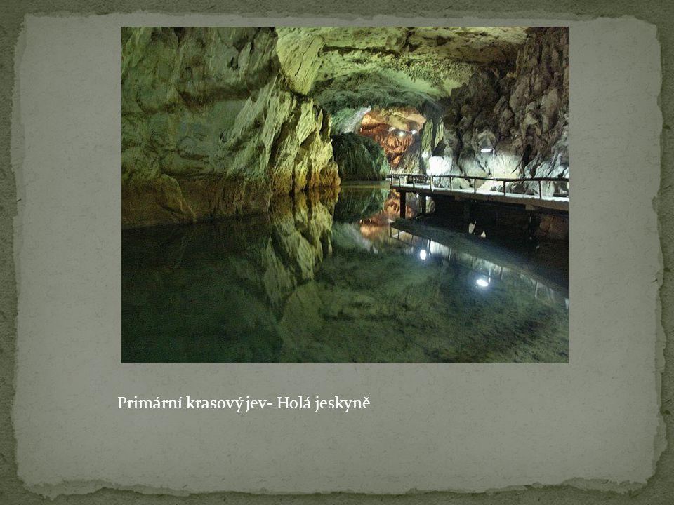 Primární krasový jev- Holá jeskyně