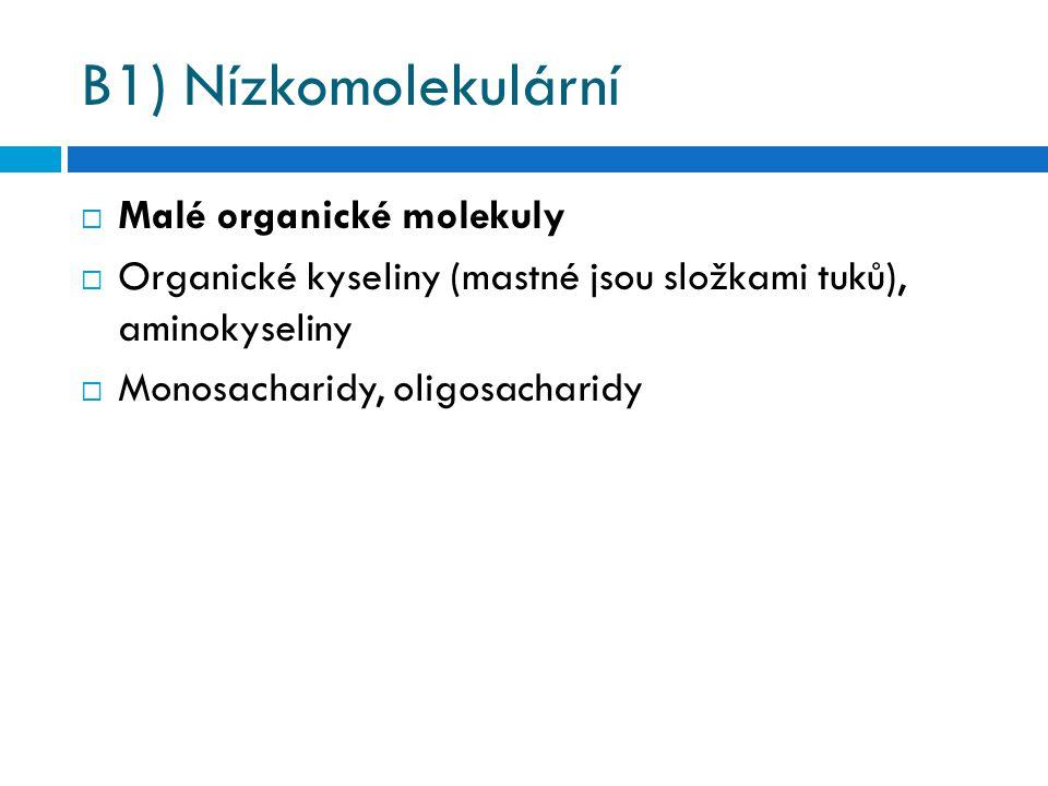 B1) Nízkomolekulární Malé organické molekuly
