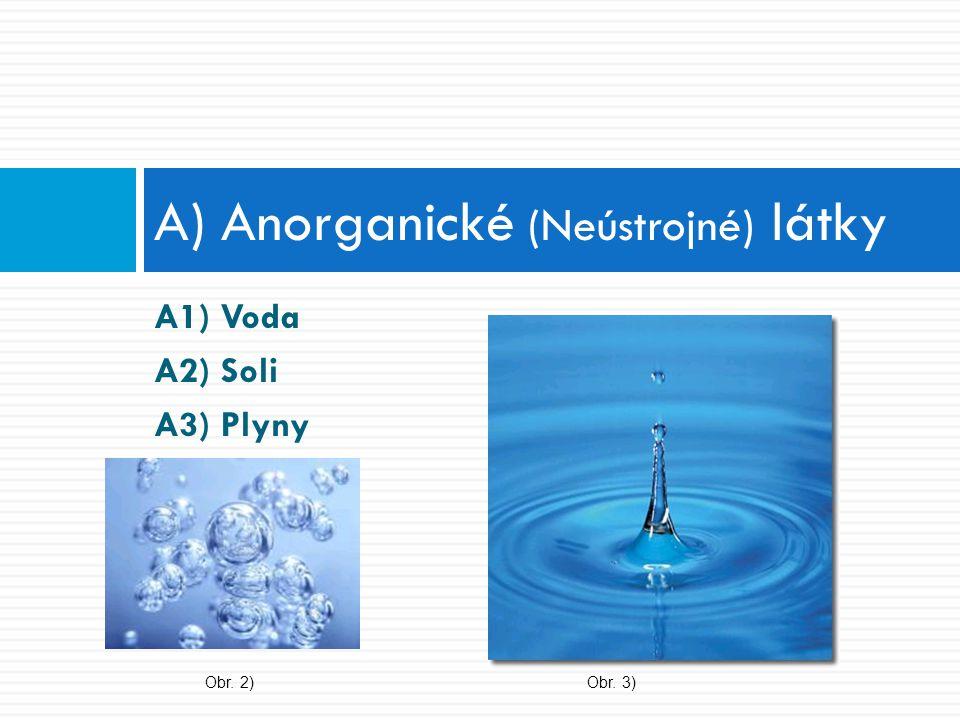 A) Anorganické (Neústrojné) látky