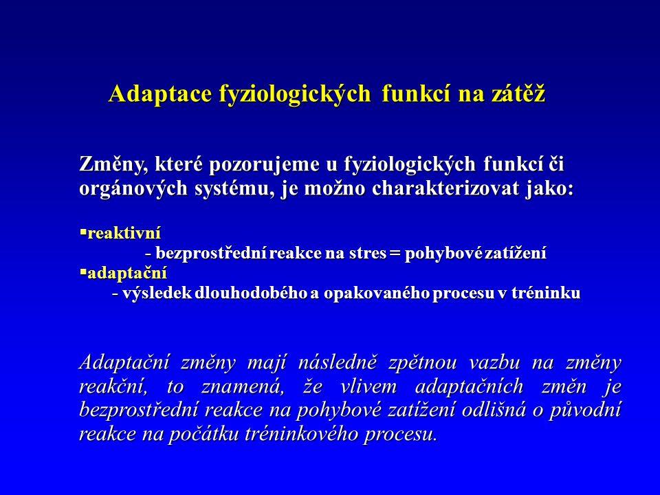 Adaptace fyziologických funkcí na zátěž