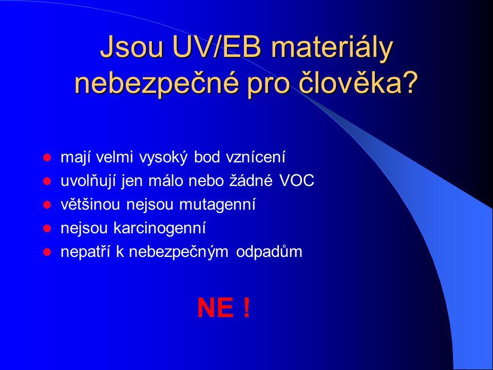Jsou UV/EB materiály nebezpečné pro člověka