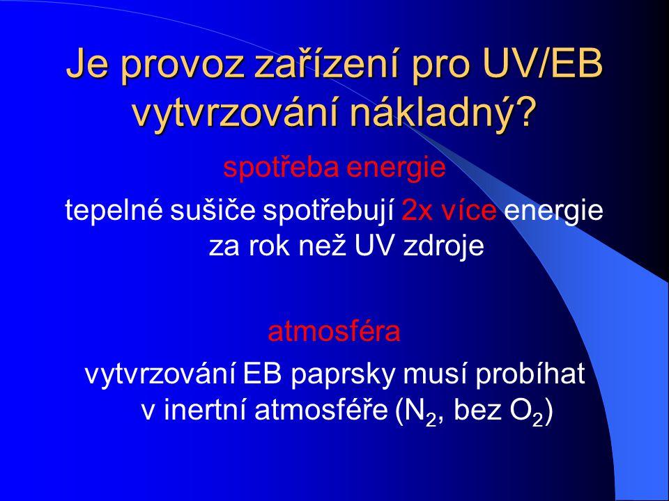 Je provoz zařízení pro UV/EB vytvrzování nákladný