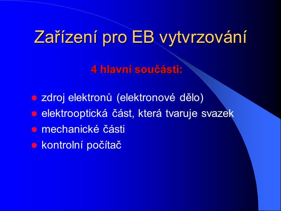 Zařízení pro EB vytvrzování