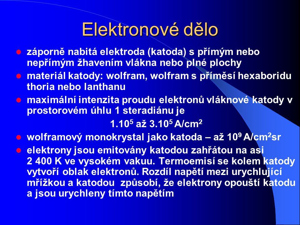 Elektronové dělo záporně nabitá elektroda (katoda) s přímým nebo nepřímým žhavením vlákna nebo plné plochy.