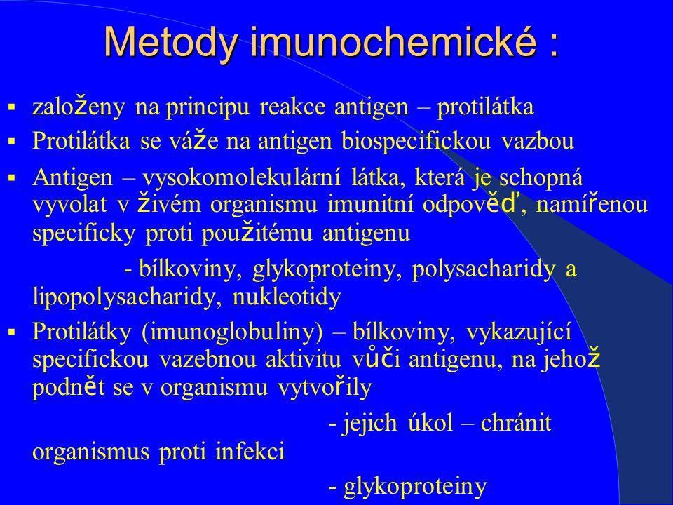 Metody imunochemické :