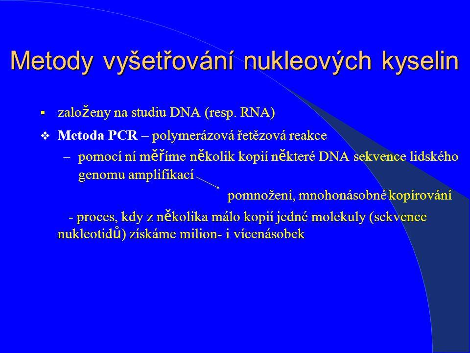 Metody vyšetřování nukleových kyselin :