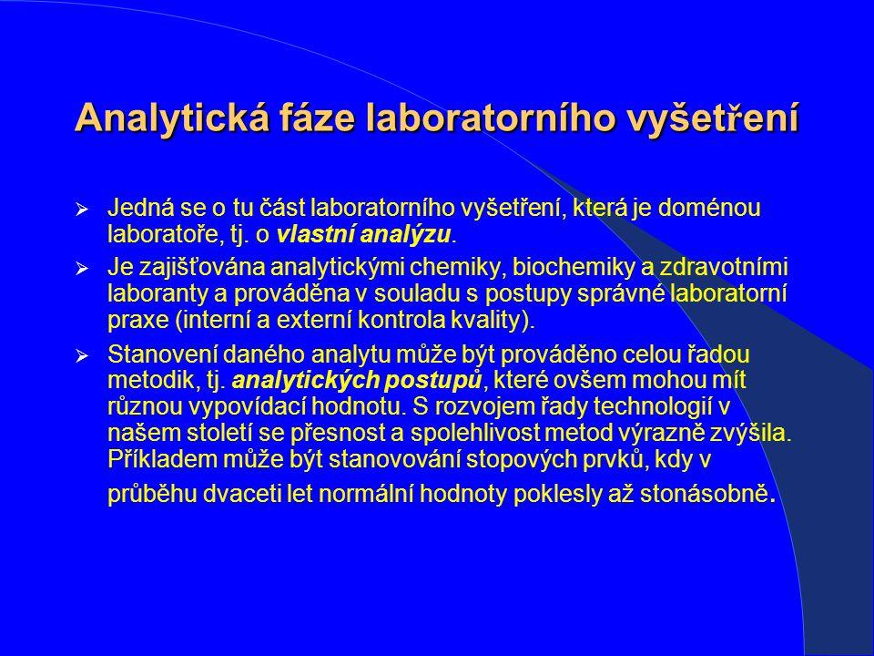 Analytická fáze laboratorního vyšetření