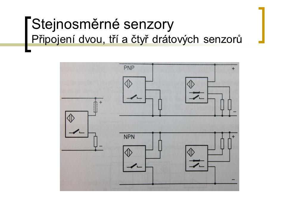 Stejnosměrné senzory Připojení dvou, tří a čtyř drátových senzorů