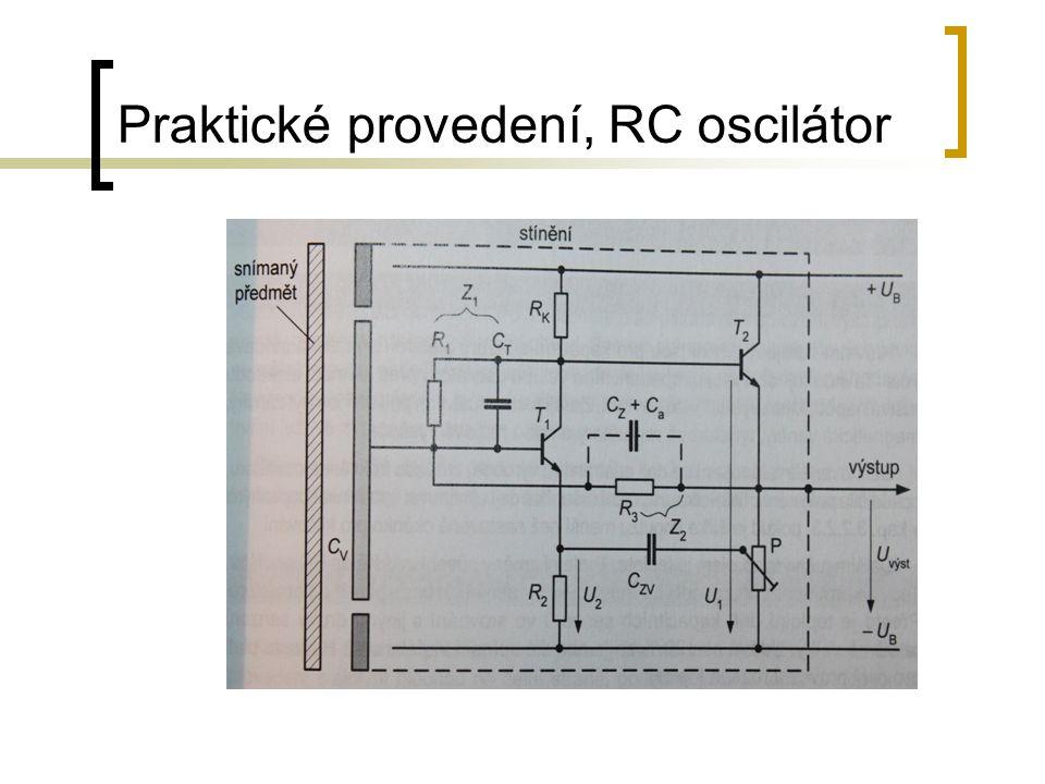 Praktické provedení, RC oscilátor