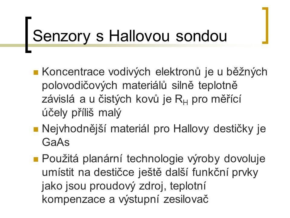 Senzory s Hallovou sondou