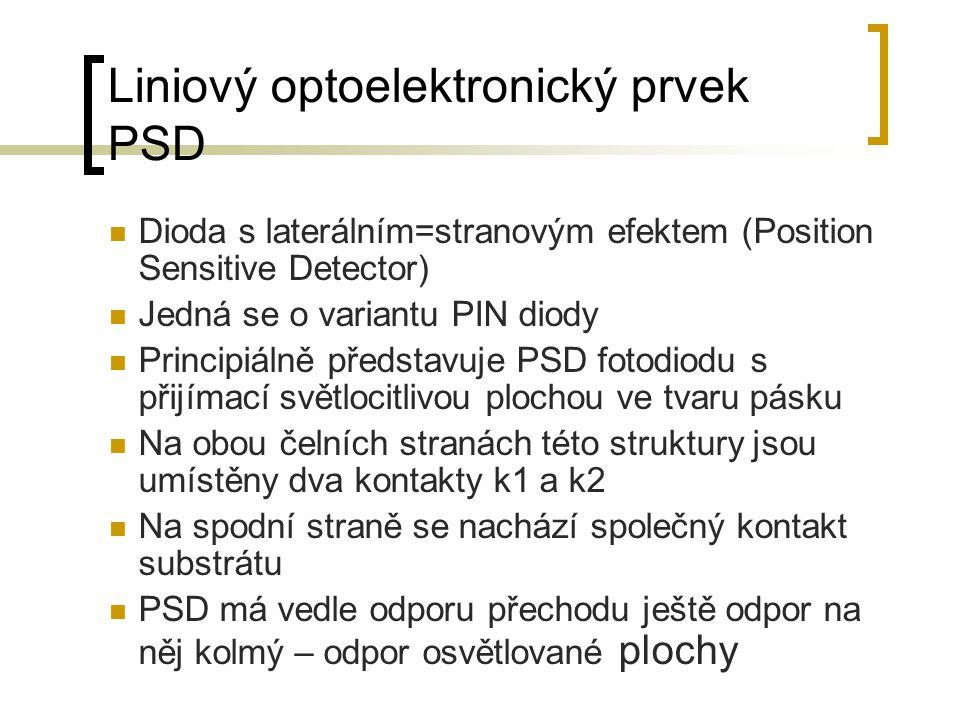 Liniový optoelektronický prvek PSD