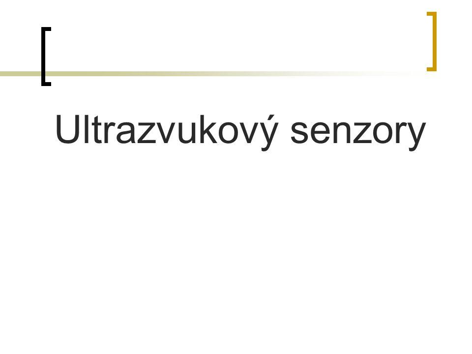 Ultrazvukový senzory
