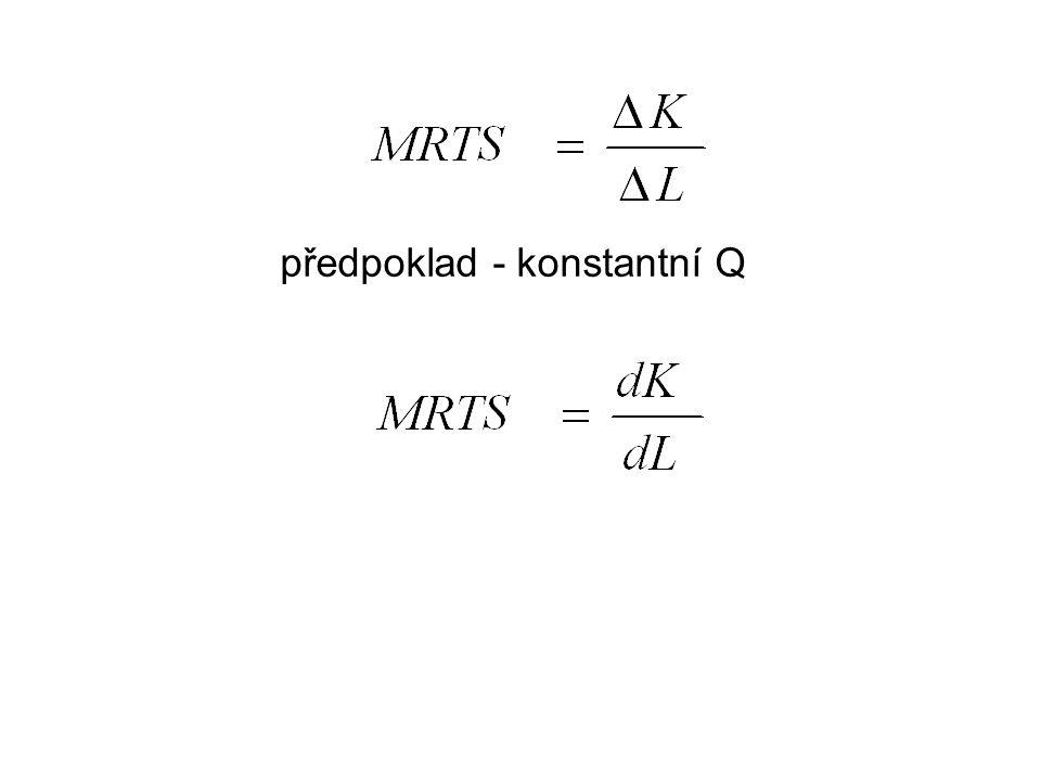 předpoklad - konstantní Q