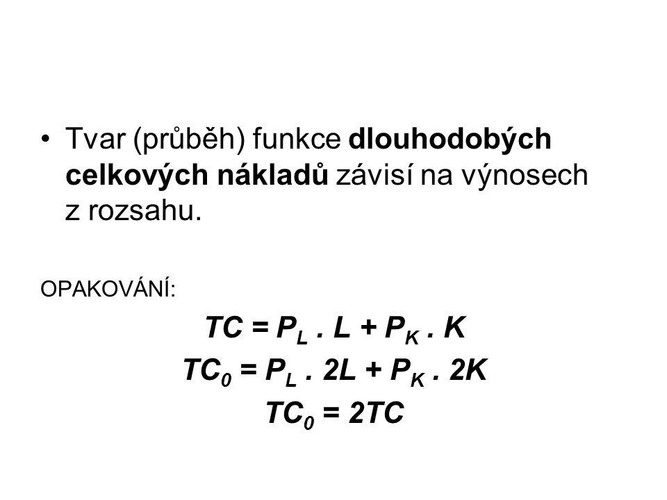 TC = PL . L + PK . K TC0 = PL . 2L + PK . 2K TC0 = 2TC