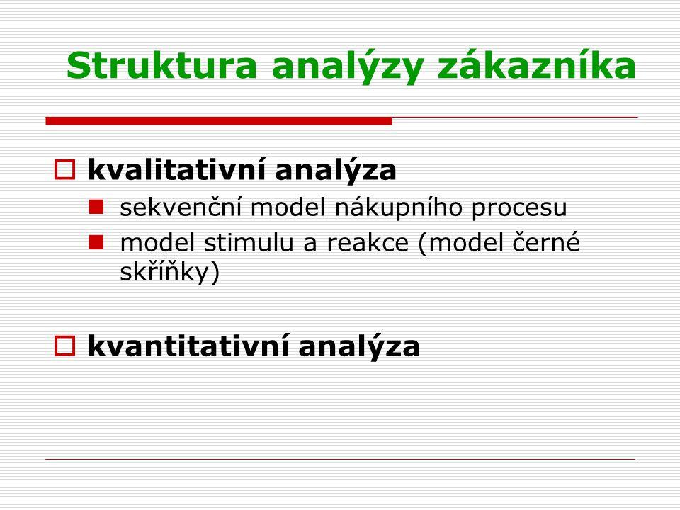 Struktura analýzy zákazníka