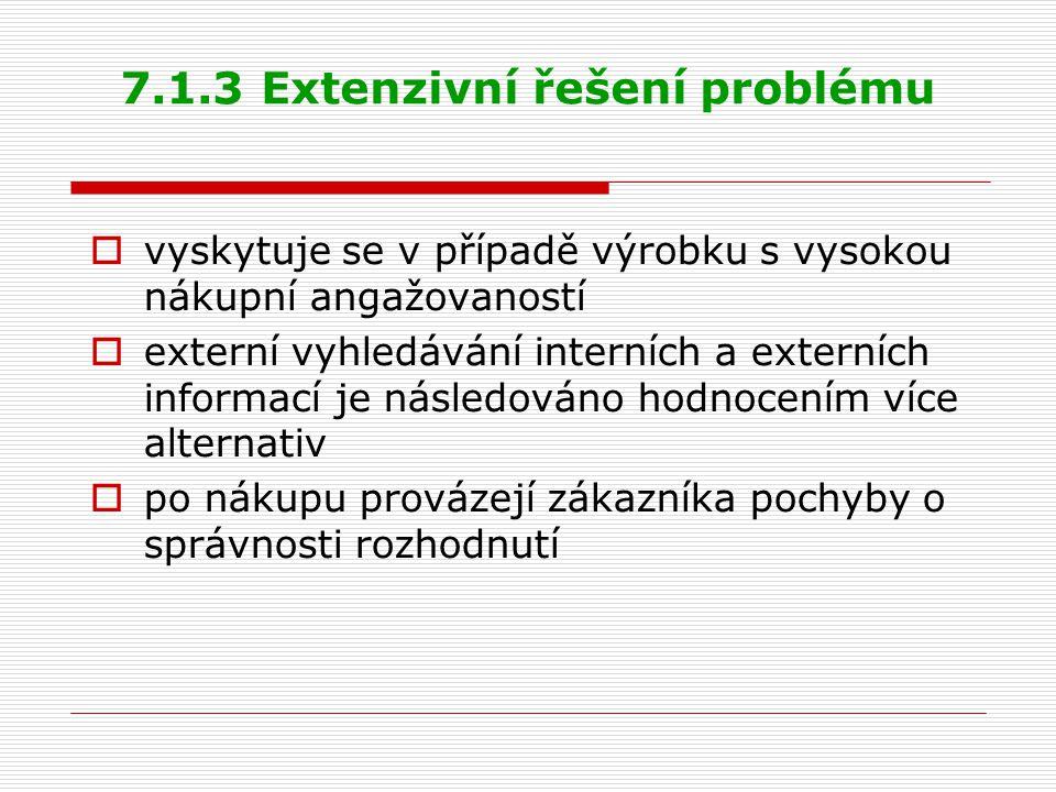 7.1.3 Extenzivní řešení problému