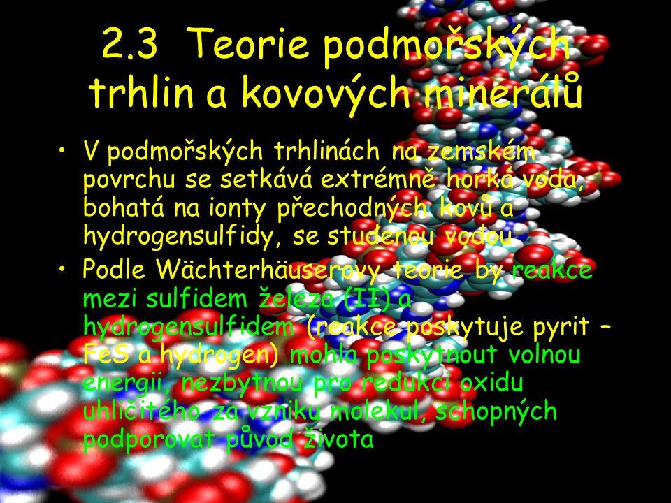 2.3 Teorie podmořských trhlin a kovových minerálů