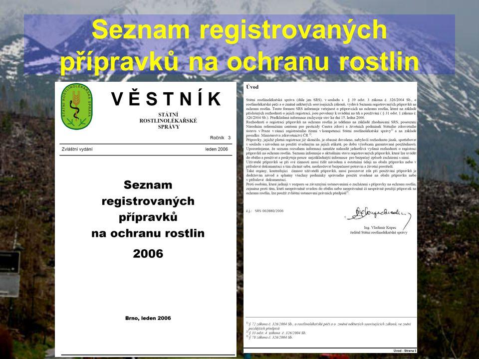 Seznam registrovaných přípravků na ochranu rostlin