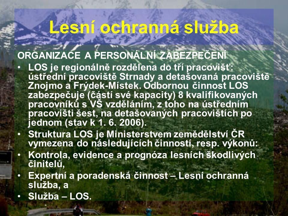 Lesní ochranná služba ORGANIZACE A PERSONÁLNÍ ZABEZPEČENÍ