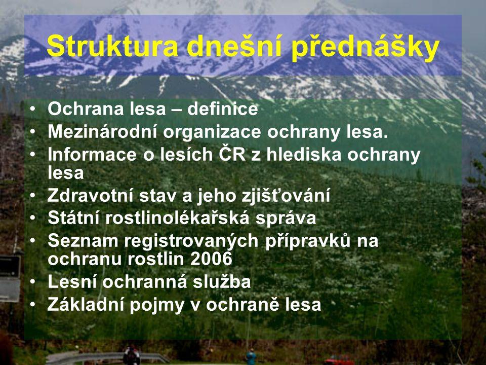 Struktura dnešní přednášky