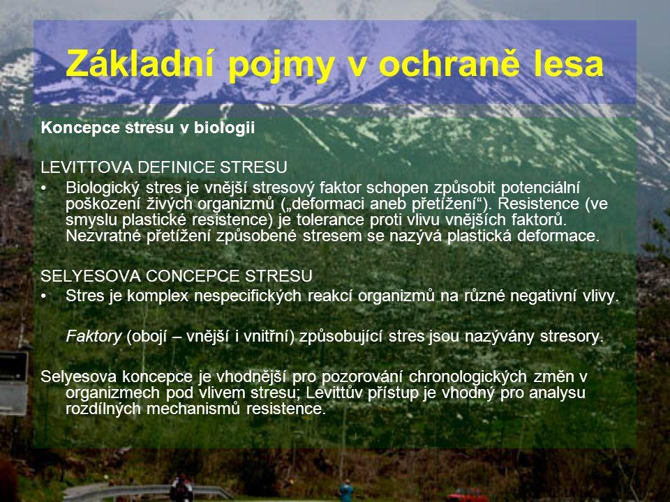 Základní pojmy v ochraně lesa