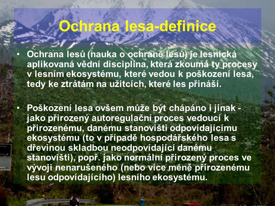 Ochrana lesa-definice