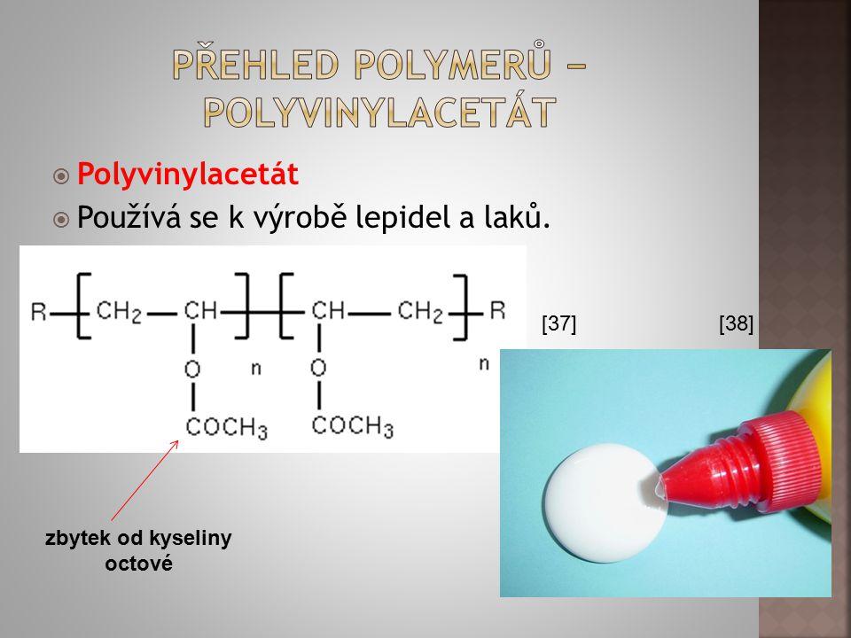 Přehled polymerů − polyvinylacetát