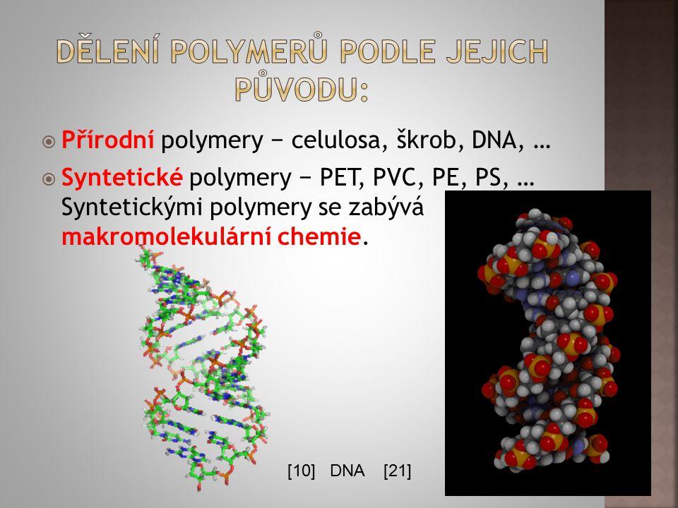 Dělení polymerů podle jejich původu: