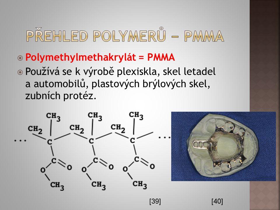 Přehled polymerů − PMMA