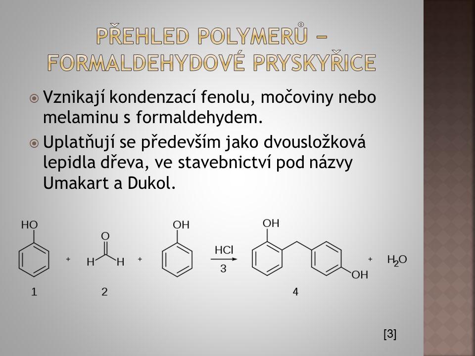 Přehled polymerů − formaldehydové pryskyřice