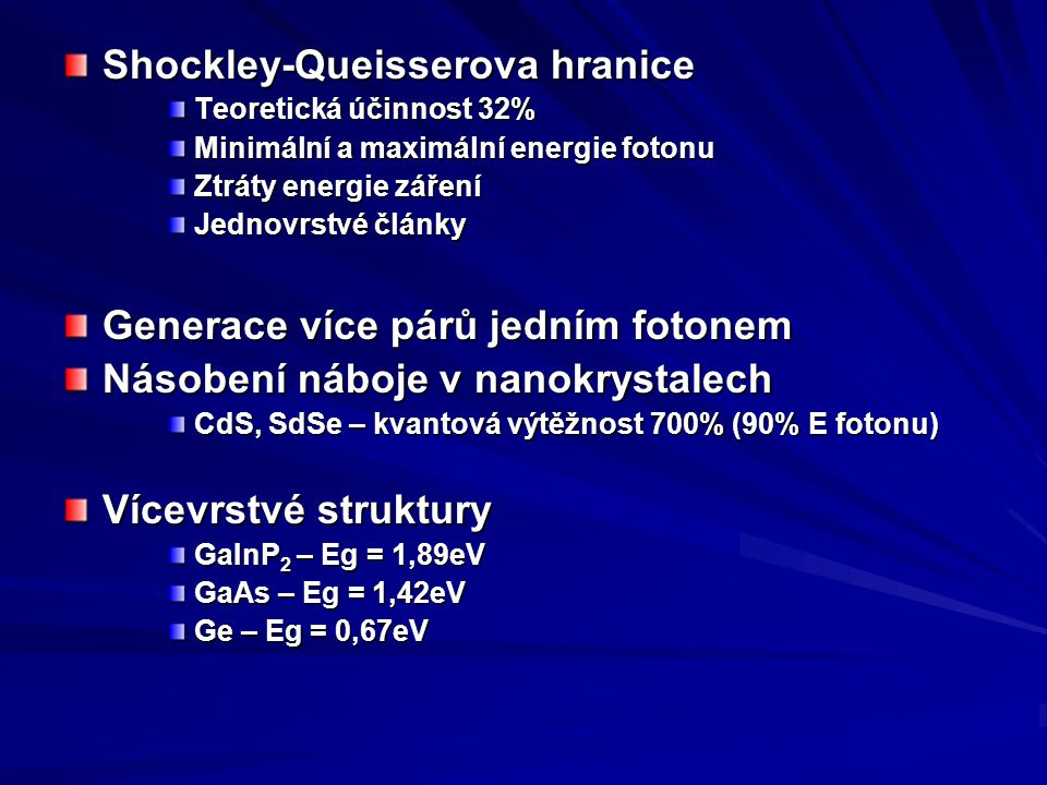 Shockley-Queisserova hranice