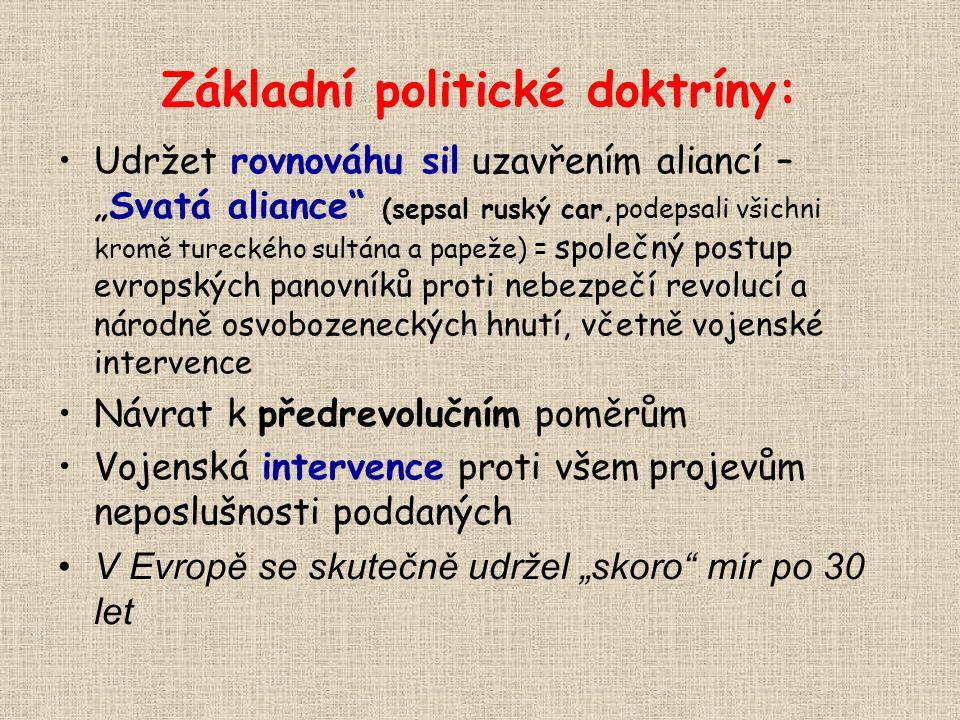 Základní politické doktríny: