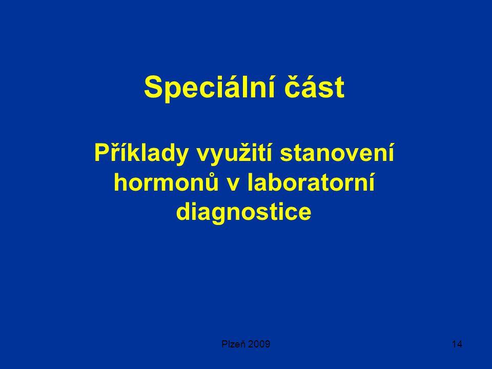 Příklady využití stanovení hormonů v laboratorní diagnostice